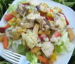 American Fruity Grilled Chicken Salad Supper Dinner