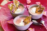 American Rose Petal Creams With Rose and Pistachio Toffee Shards Recipe Dessert