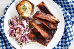Canadian Sticky Aussie Barbecue Ribs With Fennel And Apple Slaw Recipe Dessert