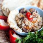 British Pilaf with Beef and Rice Appetizer