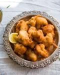 American Apple Ciderbattered Cauliflower Fritters Appetizer