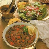 American Green Lentils With Fresh Ginger And Spices Dinner
