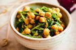 Spanish Smashed Chickpeas With Spinach Recipe Appetizer