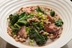 Canadian Blackeyed Peas With Ham Hock and Collards Recipe Appetizer