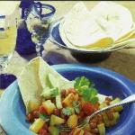 Mexican Mexico Beans with Fruit Appetizer