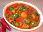 American Green Pepper and Tomato Curry Appetizer