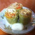 American Courgettes Stuffed with Meat and Rice Appetizer