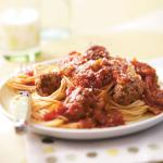 British Slowcooked Spaghetti and Meatballs Dinner