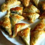 American Puff Pastry Snacks with Spinach and Feta Appetizer