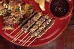 American Beef Skewers With Mint And Lemon Sauce Recipe Appetizer