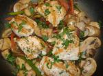Chicken Bell Peppers Onions and Mushrooms With Marsala recipe