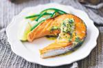American Salmon Cutlets With Lime And Coriander Butter Recipe Appetizer