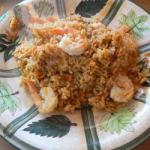 American Risotto with Shrimps Appetizer