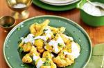 American Fried Cauliflower With Coriander Yoghurt Recipe Appetizer