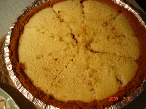 American Buttermilk Pie With Gingersnap Crumb Crust 1 Dinner