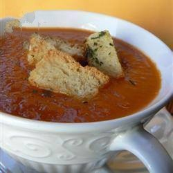 Spanish Cold Soup of Tomato and Rosemary Appetizer