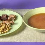 Spanish Cocido Madrileno stew and Chickpeas Spanish Appetizer