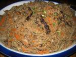 Korean Chapchae noodles With Beef and Mixed Vegetables Appetizer