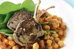 American Spiced Chickpeas With Lemon and Garlic Marinated Lamb Recipe Dinner