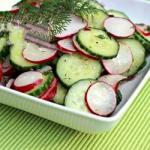 American Summer Radishes Cucumber Salad Appetizer
