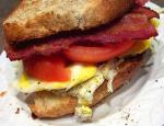 American Bacon and Egg Sandwich Appetizer