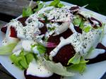 American Roasted Beet Salad With Horseradish Cream Dressing Dinner