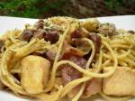 American Awesome Spaghetti Carbonara W Chicken Appetizer