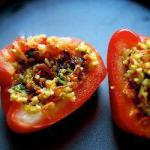 American Peppers Stuffed with Bulgur and Vegetables Appetizer