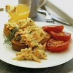 Australian Scrambled Eggs with Smoked Salmon and Dill 2 Appetizer