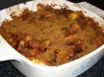 American Peach Crisp light Dessert