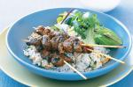 Australian Middle Eastern Skewers With Almond Rice Recipe Dinner