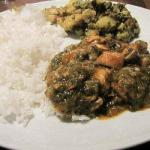 American Curry with Chicken Spinach and Mushroom Appetizer