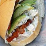 American Picnic Sandwich with Chicken Avocado and Bacon Dinner