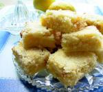British Lemon Squares With Candied Ginger Dessert