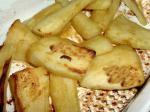 American Mustard and Honey Glazed Parsnips Dessert