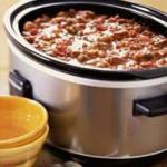 American Slow-cooker Chili Dinner