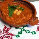 American Stew of Chickpeas with Chorizo Dinner