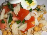 Portuguese Portuguese Chickpea and Cod Salad Appetizer