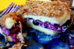 French Baked Stuffed Blueberry French Toast for Dessert
