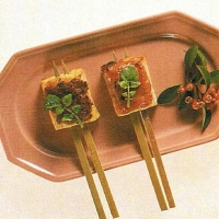 Japanese Broiled Bean Curd with Miso Topping Appetizer