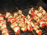 American Mustard Chicken and Bell Pepper Kabobs BBQ Grill