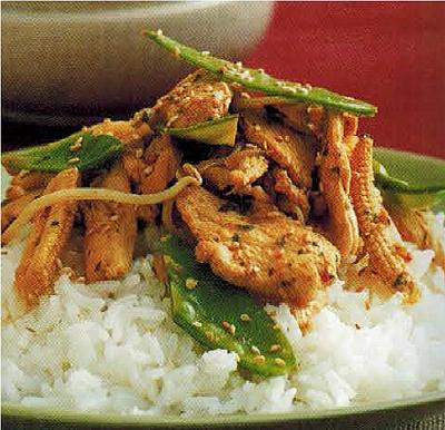Chinese Stir- Fry Lemon And Ginger Chicken Appetizer