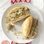 French Saucy Onion Meatball Subs Appetizer