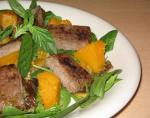 American Warm Lamb Pumpkin and Pesto Salad Dinner