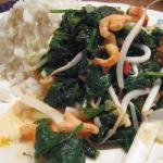 American Fried Prawns with Spinach Appetizer
