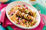 Australian Sweet Chilli Fish Skewers With Pickled Cabbage Salad Recipe Drink