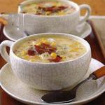American Sweetcorn Soup with Paprika Appetizer