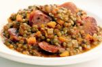 Canadian Lentil Stew With Spicy Sausage Recipe Appetizer