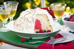 Australian Orange and Berry Bombe Alaska Recipe Dessert