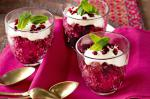 Australian Pomegranate Granita With Orange Cream Recipe Dessert